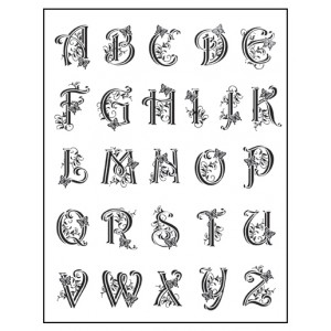 Stamp set: Capital Alphabet