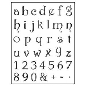 Stamp set: Lowercase Alphabet