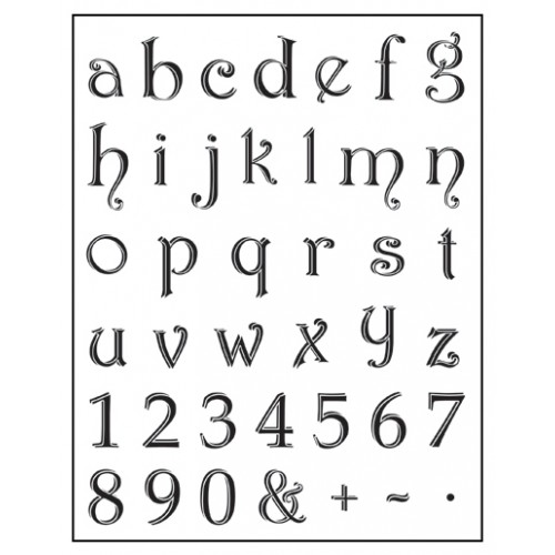 Stamp set: Lowercase Alphabet