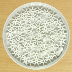 10mm Star Bead White
