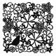 Birds & Flowers Stencil