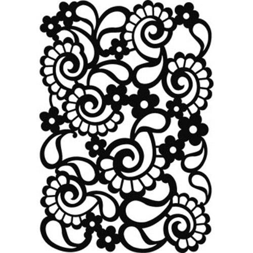 Small Paisley Stencil
