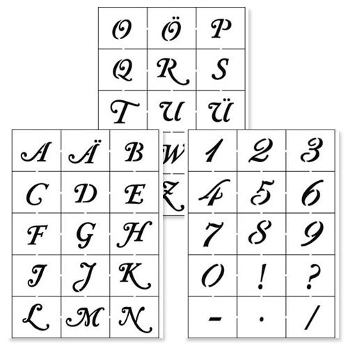 Alphabet & Numbers Stencil Set 1
