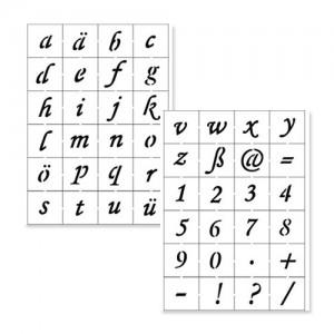 Alphabet & Numbers Stencil Set 2
