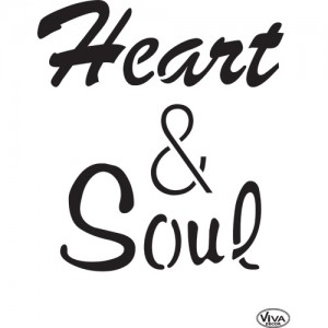 Heart & Soul A4 Stencil
