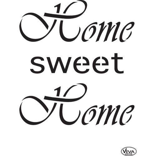 Home Sweet Home A4 Stencil
