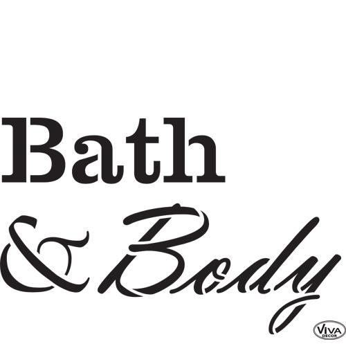Bath & Body A4 Stencil