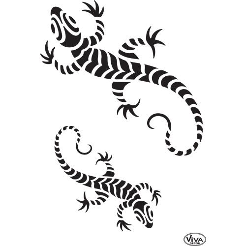 Mosiac Lizard A4 Stencil