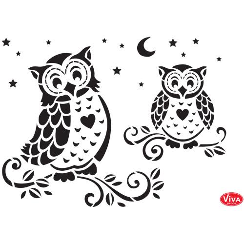 Mosiac Owl A4 Stencil