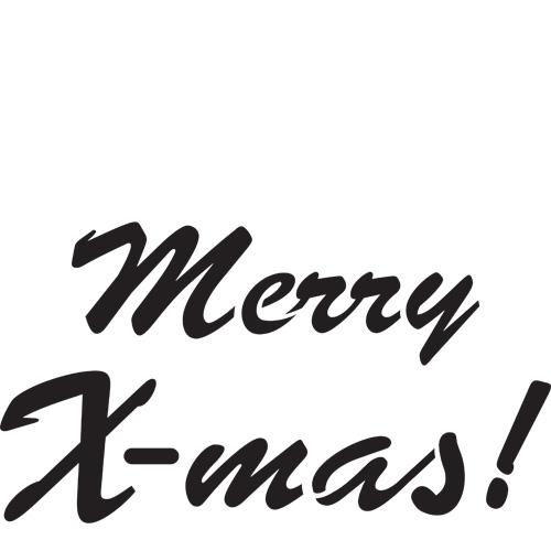 Merry Xmas A4 Stencil
