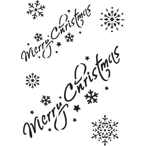 Merry Christmas A4 Stencil