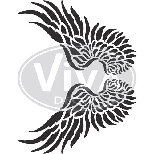 Wings A4 Stencil