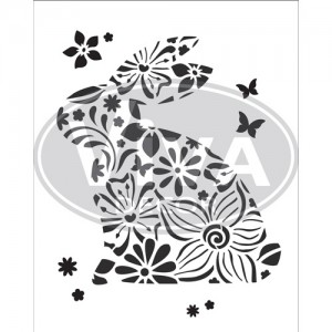Rabbit A4 Stencil