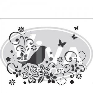 Bird On a Twig A4 Stencil