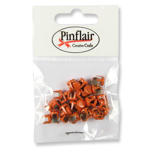 Pinflair Orange Studs