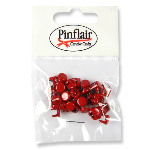 Pinflair Crimson Red Studs
