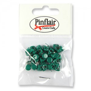 Pinflair Dark Green Studs