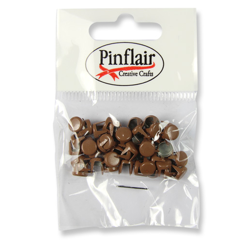 Pinflair Brown Studs