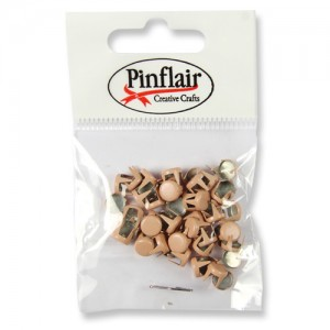 Pinflair Light Brown Studs