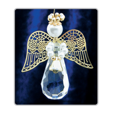 PA224 Crystal Teardrop Angels Gold