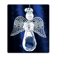 PA224 Crystal Teardrop Angels Silver